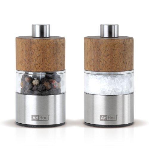 Set Pfeffer- Und Salzmühle David, Ceramic Mahlwerk Ceracut®, Edelstahl/Akazienholz/Acryl, D: 3,2 Cm, H: 6,2 Cm
