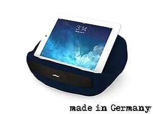 padRelax casual iPad Halterung / Tablet Halter / Ständer / Stütze / Kissen- für Bett, Sofa, Couch, Tisch,.. Top Zubehör für Geräte bis 10.5 Zoll (Apple iPad Air, Samsung Galaxy Tab, eReader) Marine