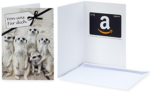 Amazon.de Geschenkkarte in Grußkarte - 15 EUR (Von uns. Für dich.) -