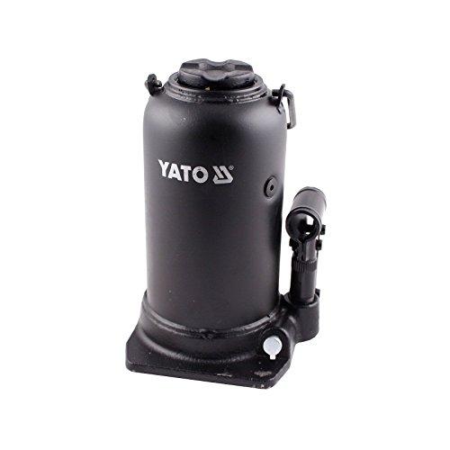 Hidráulico botella jack 20t YT 1707Gato hidráulico robusto con una capacidad máxima de carga de 20toneladas y una altura de elevación de 278mm, perfectas para el uso en coches, camiones, remolques, maquinaria agrícola, caravanas o tractores. En Ca...