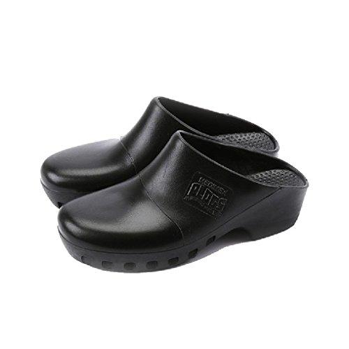 GE Healthcare medi plogs zoccoli Op scarpe giardino spiaggia, nero (nero), 37/38