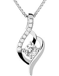 TED COLLINS collar de plata 925 con colgante de zirconia – collar de mujer / cadena / colgante - con 2 años de garantía de devolución de dinero