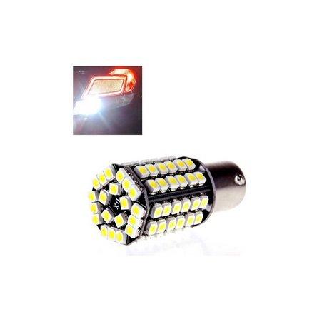 SaySure - New 1156 3528 80 SMD LED BA15S Car Backup Fog Signal Tail Rear Light Pure White 12V