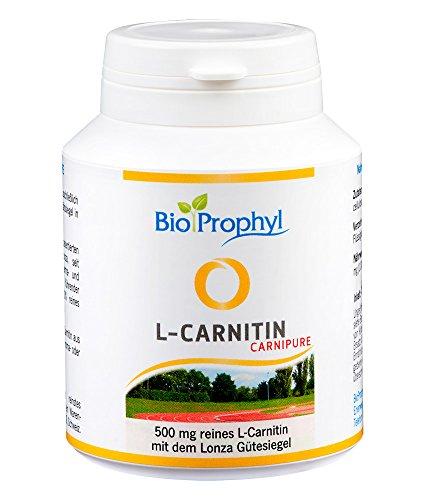 BioProphyl® L-Carnipure Carnitin mit Lonza Gütesiegel - 100% reines L-Carnitin ohne D-Form - zertifiziert - 60 vegetarische Kapseln - 500 Mg 60 Vegi-kapseln