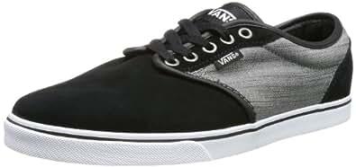 Vans Atwood LP, Men's Low-Top Trainers, Suede Textile/Black/Grey, 9.5 UK