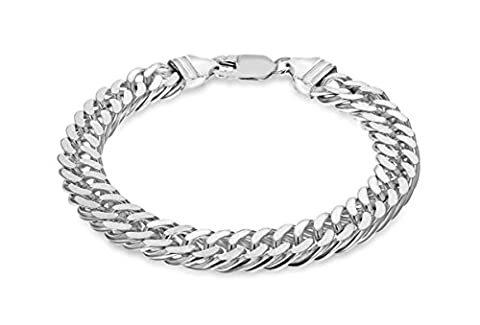 Tuscany Silver Sterling Silver Diamond Cut Double Curb Bracelet of 20cm/8