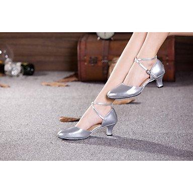 Ruhe @ Damen Dance Schuhe Bauch/Latin/Samba Patent Leder/Synthetik Cuban Heel Rot/Silber/andere burgunderfarben