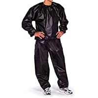4ed20986bb26e Pinmaoo Sauna PVC Sauna Track Suit Weight Loss Fitness Suit Exercise Gym  Training Black (X