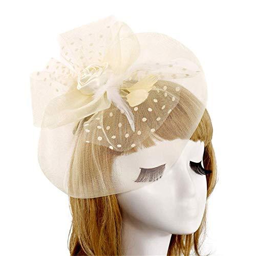 e Tea Party Fascinators Hut Für Stirnband Kentucky Derby Hochzeit Cocktail Blume Mesh Federn Haarspange für Mädchen und Frauen ()
