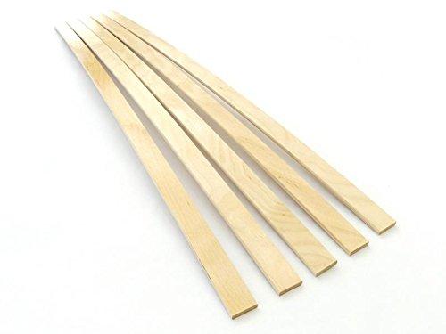 BOSSASHOP.de 5X Neue Federholzleisten 8mm Stärke x 35mm Breite | Ersatz Latten Leisten | Lattenrost Reparieren | Lattenrostersatzteile | Lattenrost Latten (naturlasiert, 837mm)