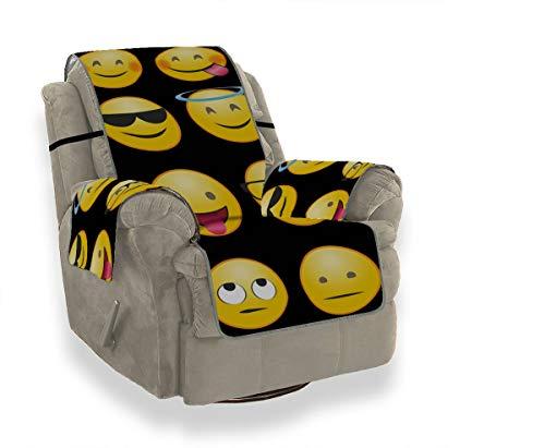 Emoticon Emoticon Whatsapp Emozione Ridere Felice Universale Cuscino per divano Copridivano elasticizzato Copridivano reclinabile Protezione per mobili per animali domestici, bambini, gatti, divano