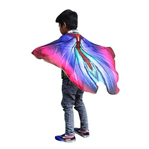 Schmetterlingkostüm, Dasongff Kind Kinder Jungen Mädchen Schmetterlingsflügel Kostüm Faschingskostüme Karneval Kostüm Butterflywing Cape Kimono Flügel Schal Cape (Weiße Schmetterlingsflügel Kostüm)