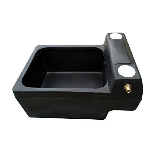 Titan 12 Gallon Horse Cattle Drinker Agricultural Water Trough (Black) Test