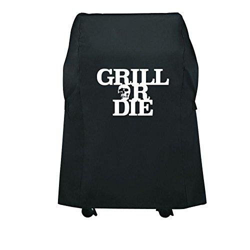GRILL OR DIE Grillabdeckung für Holzkohlegrill ★ Schwarz mit Aufdruck in Premium-Qualität Barbecue Zubehör 2016 – Amazon Aktion