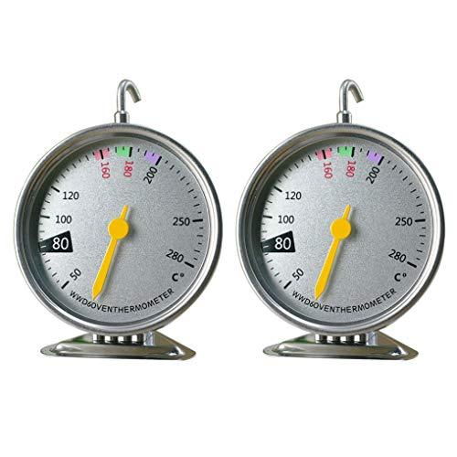 GuDoQi 4 Piezas Termómetro para Horno 50°C A 280°C Medidor De Temperatura De Hornear Acero Inoxidable...
