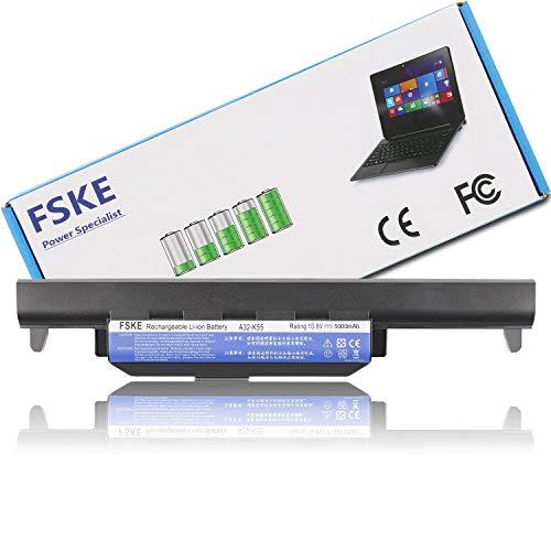 FSKE® A32-K55 Batterie pour ASUS X75V X75A K55 X55A X75VD K55A K55VD X55C K55V Notebook Battery,10.8V 5000mAh 6 cellules