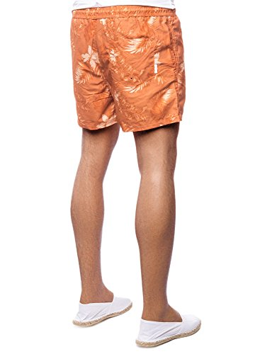 JACK & JONES Herren Badeshorts Jjisunset Swim Shorts Floral Ww Camp Orange (coral gold)