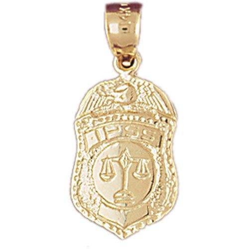 Fabricado exclusivamente para jewelsobsession. Este es un elegante 14K oro amarillo IPSS insignia colgante. Este colgante de oro amarillo de 14K mide 24mm de largo por 11mm de ancho. Medición INCLUYE Bale. jewelsobsession crea todas las joyas de ...