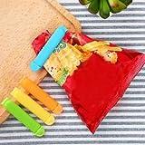 SLB Works Brand New 100pcs/pack 7cm Food Snack Storage Bag Seal Clips Sealer Plastic Kitchen Tool AW