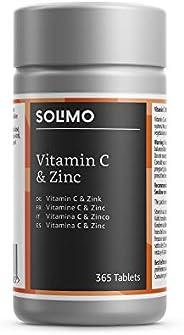 Marchio Amazon- Solimo Integratore alimentare di vitamina C 100 mg e zinco 15 mg, 365 compresse