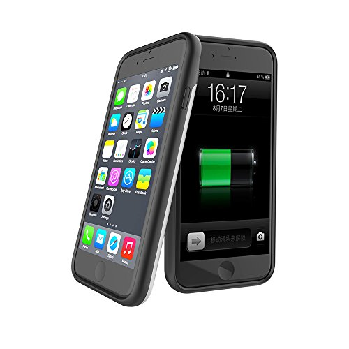 Custodia Batteria iPhone 7 ,FindaGift 3000mAh Copertura esterna batteria ricaricabile Copertura caricabatteria da banco di cassa antiurto per iPhone 7 bianca