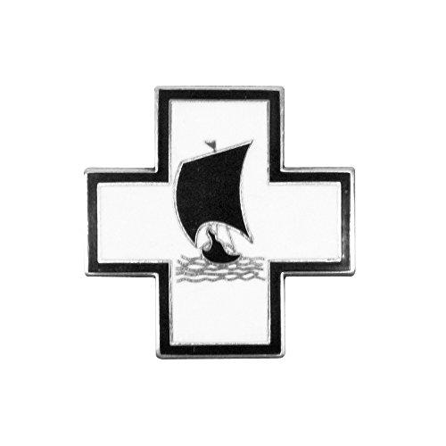 Epic Militaria alemán WW213th Flotilla U-Boat Tapa Pin Badge-Viking Ship