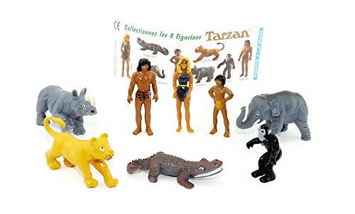 Kinder Überraschung 8 schöne Tarzan Figuren mit Beipackzettel