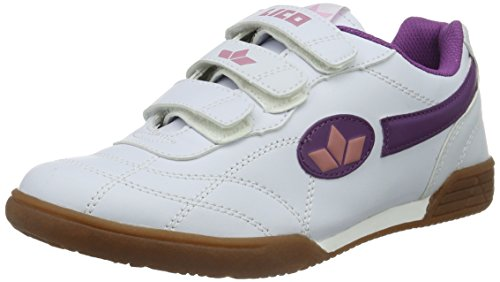 Lico Bernie V Mädchen Hallenschuhe, Weiß (WEISS/LILA/ROSA), 28 EU (Turnschuhe Mädchen Schuhe)