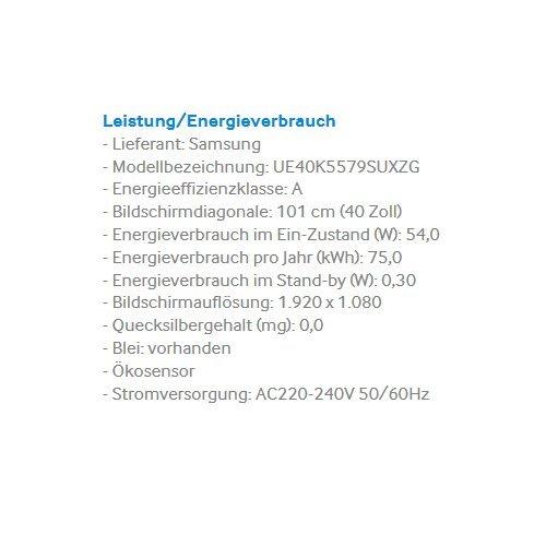 Samsung UE40K5579 - 3