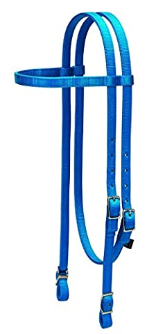 Weaver Leather Nylon Browband Headstall, Hurricane Blue by Weaver Leather
