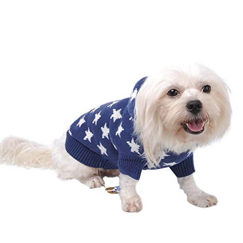 Weihnachten Winter Hunde Sweater Pullover Hundbekleidung (XXL, Blue) - 6