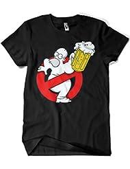 Camiseta Homer Duff Busters (XL, Negro)