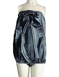 Noir culotte en caoutchouc / Combi / catsuit / côtés haut (51cm). Mélange de latex/silicone. XXL / XXXL