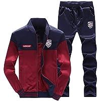 LaoZanA Hombre Chándal 2 Piezas Conjuntos Deportivos Pantalones + Chaquetas Sweatshirt ...