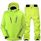 Z&X Ensemble de Veste de Ski pour Hommes, Simple et Double, vêtements de Ski, Coupe-Vent imperméable et Chaud, Combinaison de Ski, équipement de Protection coloré et Professionnel,1,M...