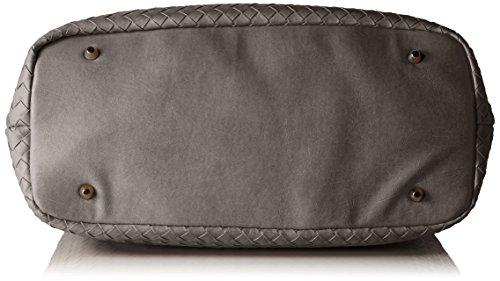 Sansibar Damen Henkeltasche, 17x24x35 cm Grau (Grau (Grey))