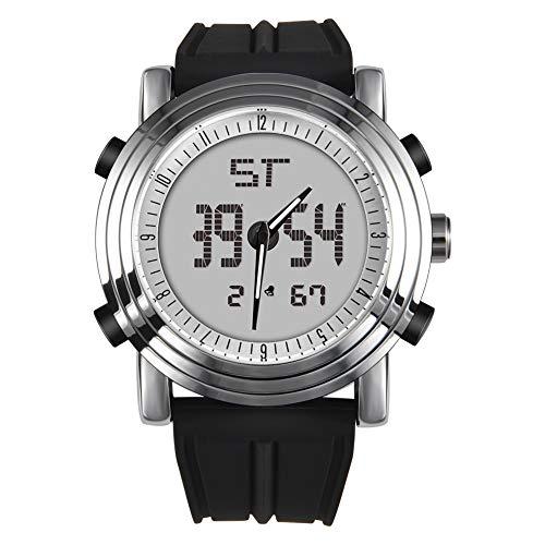 Männer Uhren Analog Digital Sport Armbanduhr für Mann Hintergrundbeleuchtung Silikonband Military Classic Design