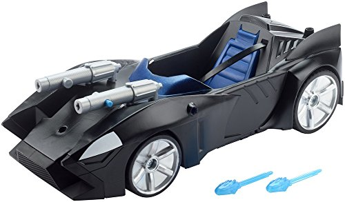 Mattel FDF02 - DC Justice League Doppelblaster-Batmobil, 30 cm (Batman Batmobile)