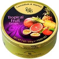 Cavendish & Harvey - Tropical Fruit Drops - Bonbons, 200g in Metalldose