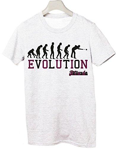 Zoom IMG-1 tshirt evolution biliardo sport hobby