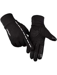 1546cd108ce40 Litake Touch Screen Cycling Gloves Unisex Luminous Outdoor Warm Velvet  Waterproof Windproof Gloves