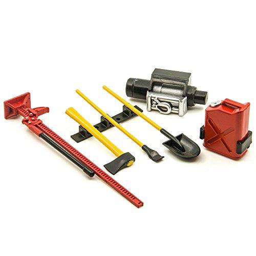 AXspeed Zubehör Dekorative Werkzeuge Set für 1/10 Rock Crawler RC 4WD D90 SCX10 Wraith