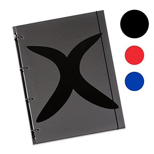 Schaar-Design flexiNotes NOTIZBUCH A5 nachfüllbar mit Register, Collegeblock + Ringbuch vereint...