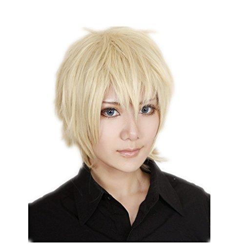 tüm Perücke kurz Blond Halloween Party Haar mit Perueckennetz (Die Weiblichen Erwachsenen Kostüme)