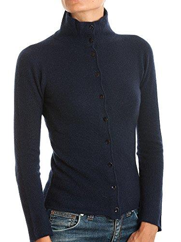 DALLE PIANE CASHMERE - Jacke mit Knöpfen 100% Kaschmir - Damen, Farbe: Blau, Größe: M - 100% Cashmere Jacke