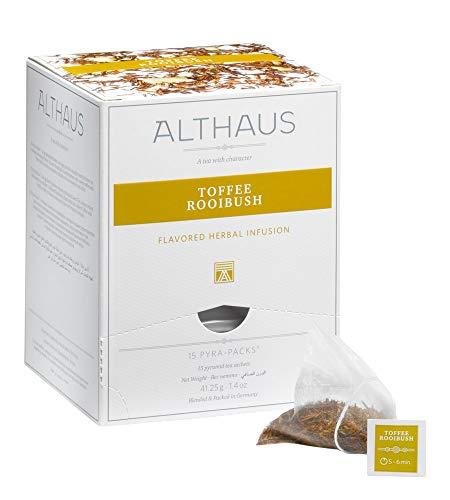 Althaus Pyra Pack Toffee Rooibush 15 x 2,75g · Rooibushtee im Pyramidenbeutel