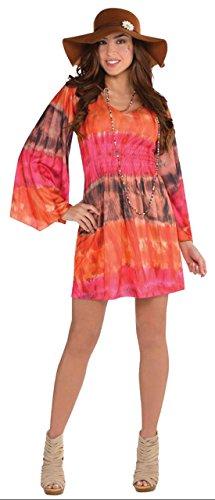 estival Batik Kleid Kostüm Karneval , Orange, M/L (Rasta Mann-halloween-kostüm)