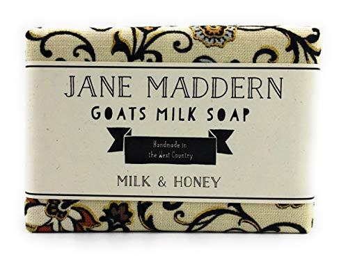Jane Maddern Handgemachte Ziegenmilchseife - Milch und Honig, 90g -