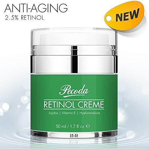 Gesichts-anti-aging-behandlung (Retinol Feuchtigkeitscreme Creme-2.5% Retinol anti falten/anti aging creme für gesicht und augen. Natürliche Hautpflege-Behandlung crème für Frauen und Männer. 50ml)