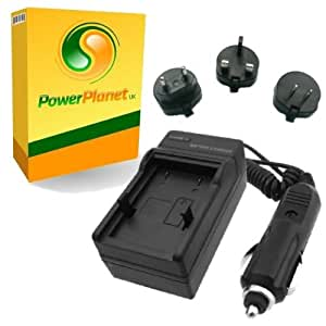 PowerPlanet Pentax D-LI68, D-LI122 Fast 1-2hr Battery Travel (UK, Europe, USA Mains/Car) Charger for PENTAX Optio S10, S12, VS20 / PENTAX Q, Q10